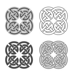 celtic knot ethnic ornament vector image