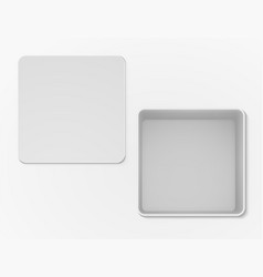 white open empty box top view vector image vector image