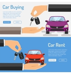 Rent amd Buying Car Banner vector image vector image