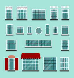 set of plastic or wooden window frames vector image vector image