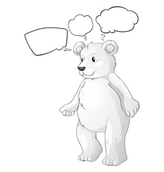 A white bear thinking vector image vector image
