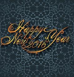 Beautiful elegant text design of happy new year vector image vector image