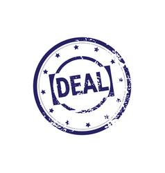 safe deal stamp blue grunge sticker or badge icon vector image vector image