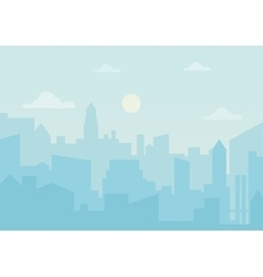 Sun day ozone in the city Cityscape simple vector image vector image