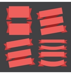 banners ribbons vector image vector image