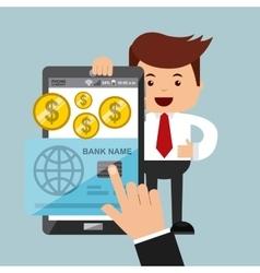 businessman activity design vector image