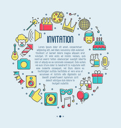 event invitation concept birthday party vector image