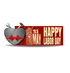 Happy labor day international workers day card vector