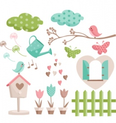 nature icons vector image vector image