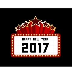 New Year marquee 2017 vector image vector image