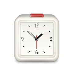 Square alarm clock icon vector image vector image