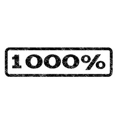 1000 percent watermark stamp vector