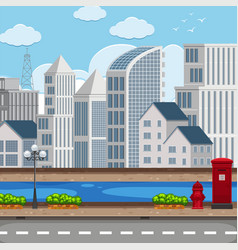 a modern city landscape vector image