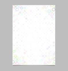 Abstract circle pattern page corner background vector