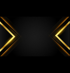 Abstract premium black and gold geometric vector