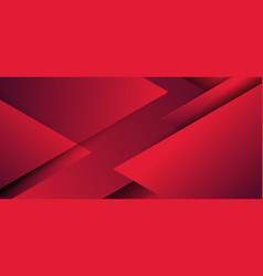 Abstract red geometric triangles overlapping vector