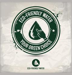 alternative eco water stamp vector image