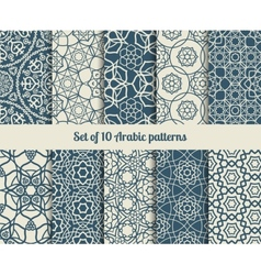 arabic patterns vector image