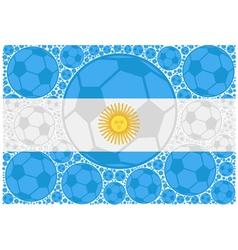 Argentina soccer balls vector image
