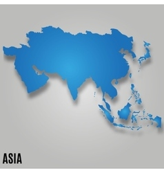 Asia map card vector