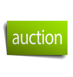 auction green paper sign on white background vector image