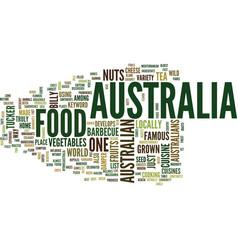 Australia food text background word cloud concept vector
