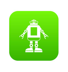 automation machine robot icon digital green vector image