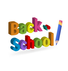 back to school pencil and paper vector image