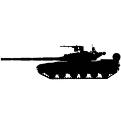 Battle tank silhouette vector