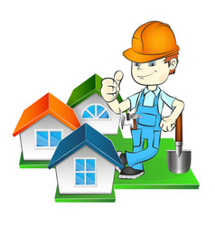 builder and at home vector image