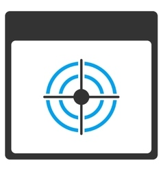 Bullseye Calendar Page Toolbar Icon vector