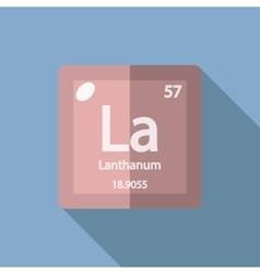 Chemical element Lanthanum Flat vector