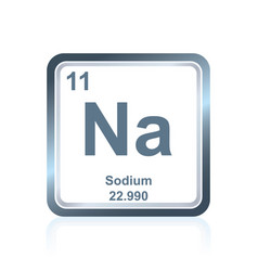 chemical element sodium from the periodic table vector image