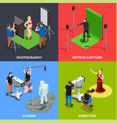 cinematograph 2x2 design concept vector image