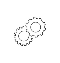 cogwheel linear icon cogwheel concept symbol vector image