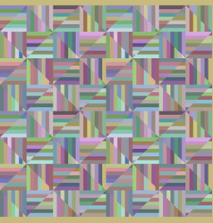 Colorful geometric striped triangle mosaic vector