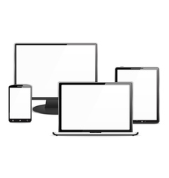 Computer Monitor Laptop Tablet PC and Smart Phone vector image vector image