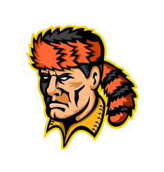 Davy crockett mascot vector