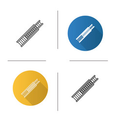 Double extension ladder icon vector