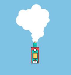 Electric cigarette personal vaporizer cloud maker vector