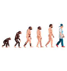 Evolution from monkey to rapper vector