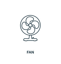 Ceiling fan icon outline style Royalty Free Vector Image