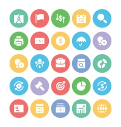 Finance colored icons 2 vector
