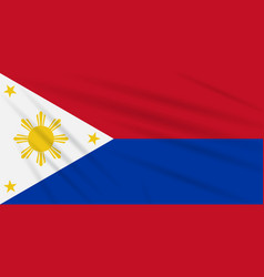 Flag philippines - war time realistic vector