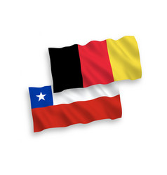 Flags belgium and chile on a white background vector