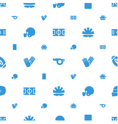 Football icons pattern seamless white background vector