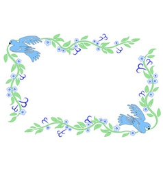 frame with dove vector image