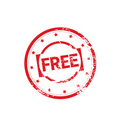 free bonus stamp rubber ink sticker design vector image