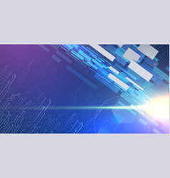 Futuristic background with glowing elements vector