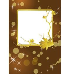 golden frame background vector image